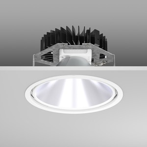Einbaudownlight LED/30W-3000K D241, H150, 3200 lm