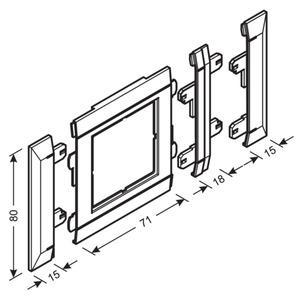 Blende modular, 50 x 50 mm, reinweiß, G34269010