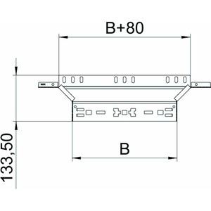 RAAM 630 FS, Anbau-Abzweigstück mit Schnellverbindung 60x300, St, FS