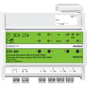 Universal-Dimmaktor REG-K/4x230/150 W, lichtgrau