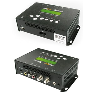 Modulator AV in QAM mit Netzteil und Bedieneinheit