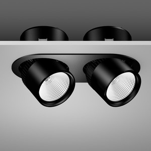 Einbaustrahler LED/90W-2000K,2lp. 360x180, DALI, 4450 lm