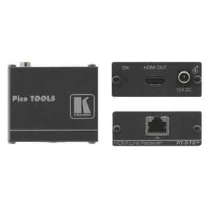 Empfänger zu 7488000040/51/57 Zum Übertragen von HDMI-Signalen via Twisted Pair (Cat-6/7) Leitung.  Eingang: RJ45 Buchse, Ausgang: HDMI Buchse, Max. 4