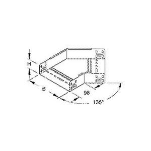 RBA 60.300, Bogen 45° für KR, 60x302 mm, mit ungelochten Seitenholmen, Stahl, bandverzinkt DIN EN 10346, inkl. Zubehör