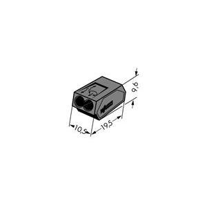 Verbindungsdosenklemme 2-Leiter-Klemme 1 - 2.5 mm² dunkelgrau