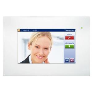 DW-HC2L-KNX-W, Iddero HC2L-KNX 10,4 TOUCH PANEL, mit integriertem Web Server und Video-Türsprechanlage Funktion mit Frontrahmen in weiß
