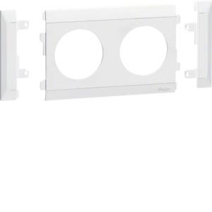 Blende modular, Steckdose 2-fach, reinweiß, G35009010