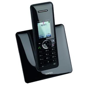 DECT 22 schwarz, analoges schnurloses Telefon (DECT/GAP)