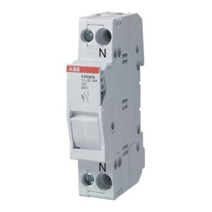 E 91N/32s, Sicherungs-Trennschalter, 1+N Pol, 32A für Sicherungseinsatz 10,3 x 38mm AC-22B