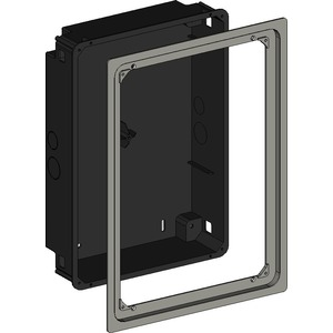 Unterputzdose flush mounted Hochformat/Aluminiumrahmen silber für iPad 2-4&Air