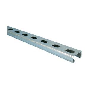 C25H3000PG, Montageschiene Typ C, mit Langloch, Stahl, PG, 3.000 mm x 21 mm x 41 mm x 2,5 mm (9,84' x 13/16 x 1 5/8 x 13 GA)