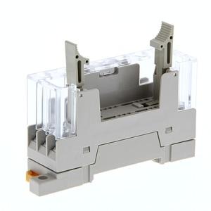 P7SA-10F-ND DC24, DIN-Schienensockel für Sicherheitsrelais G7SA, für 4-polige Typen, integrierte LED und Freilaufdiode
