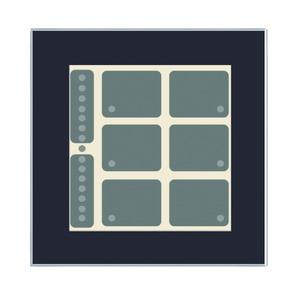 LCN - GT8B, Glas-Tastenfeld, schwarz, mit 8 Tasten, 6LEDs, Bargraph, integr. TS