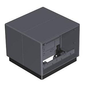 T4B 00C 9011, Telitank 118x118x97, PA, graphitschwarz, RAL 9011