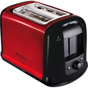 Toaster Subito, Metallic-Rot/Schwarz