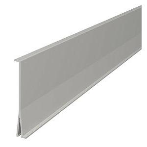 2371 100, Trennwand 100x2000mm, PVC, lichtgrau, RAL 7035