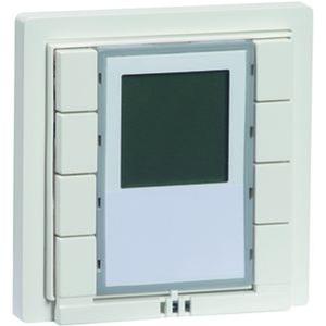 D 940/8.02 ET D, PHC Eingangstaster 8-fach, reinweiß, 8 Rückmelde-LED, Raumthermostat