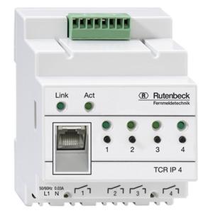 TCR IP 4, IP-Schaltaktor für REG-Montage, Schaltung über ein TCP/IP-Netzwerk, 4 Schaltausgänge, lichtgrau (ähnlich RAL 7035)