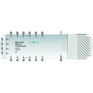 Multischalter, 5 Eingänge, 12 Teilnehmer, 47-2200 MHz, 6-20 dB Dämpfung, Innen