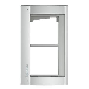 2-moduliger Abdeckrahmen inkl. Modulträger für die Türstation SFERA Aluminium, Farbe: Allmetal