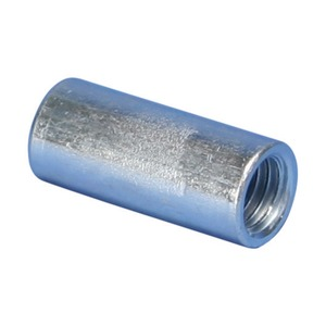 025DM10EG, EM Runder Gewindestangenverbinder, Stahl, EG, M10 Stabgröße