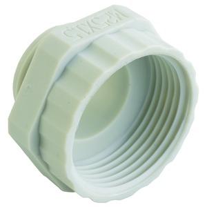 Reduktion Kunststoff Pg16 - M20x1.5, Hellgrau RAL 7035, Runde Bauform/6-kant