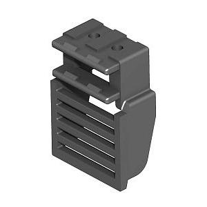 GES RV, Rastleiterverlängerung für Geräteeinsätze/Kassetten, PA, graphitschwarz, RAL 9011
