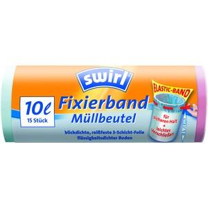 10 l Fixierband Müllbeutel, VPE, Swirl® 10 l Fixierband Müllbeutel, VPE