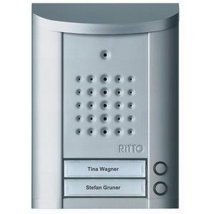 Entravox Türstation Audio, 2 WE, Audio, silber eloxiert