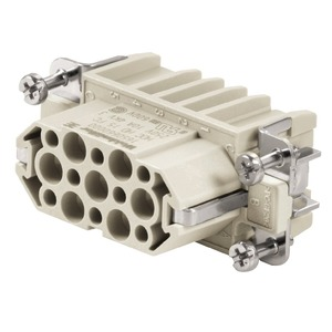 HDC HD 15 FC, Kontakteinsatz (Industriesteckverbinder), Buchse, 250 V, 10 A, Polzahl: 15, Crimpanschluss, Baugröße: 2