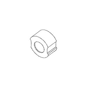 262, D-Schraub-Passeinsatz, H=13 mm, Baugröße D II, Nennstrom 16A, Porzellan, Farbe grau