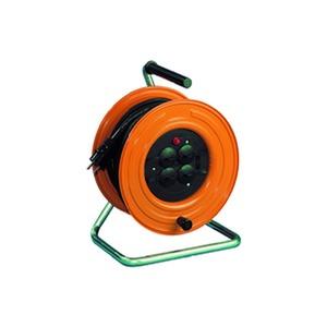 HT 280.TS4.40KS315, Kabeltrommel aus Stahlblech mit 4-fach Steckdose Mit 40 m Kabel H07RN-F 3G1,5