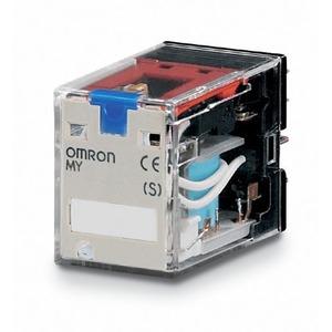 MY4IN1 24VDC (S), Mechanische und LED-Anzeige, feststellbare Prüftaste, + auf A1