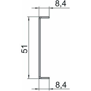 GA-TW70, Trennwand für GA 70 53x24x2000, St