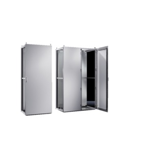 TS 8286.500, Topschrank-System lackiert zweitürig, mit Montageplatte, RAL 7035, TS 8286500