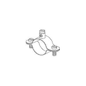 16/1, Erdungs-Rohrschelle, 45,5x70x20 mm, für Rohr-Ø 33,5 mm, Stahl, galvanisch verzinkt DIN EN ISO 2081, blaupassiviert