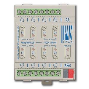 77024-180-01, IPAS Powerblock o8, Multifunktionsaktor mit bis zu 8 digitalen Ausgängen (8 x Schalten/4 x Antriebe) 16A, 4U