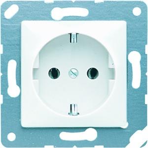 CD 120, SCHUKO-Steckdose, 16A250V~, 50x50 mm, für Klappdeckel