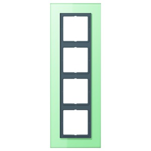 LSP 984 GLAS, Einscheibensicherheitsglas nach DIN 1249 Oberfläche satiniert 4fach Glas 115x328