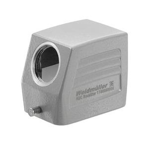 HDC 06B TSLU 1M20G, Gehäuse (Industriesteckverbinder), Kabeleingang seitlich, Steckergehäuse, Längsbügel am Unterteil, Standard, Baugröße: 3, Anzahl Kabeleingang oben: 0