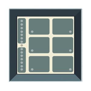 LCN - GTS8B, GT rahmenlos, schwarz, mit 8 Tasten, 6LEDs, Bargraph, integr. TS