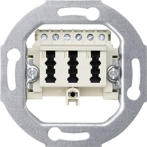 Fernmelde-Anschlussdose TAE 3fach, 3x6 NFN, weiß