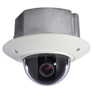 SANTEC 3 MP IP-Unterputz-Kuppelkamera 3-9 mm mot. Objektiv, IR-LED, IP-66, PoE