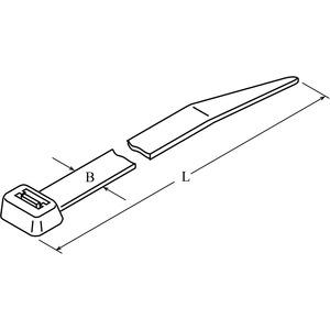 DTST-0340-P-WH-66-V, DIS-TY Kabelbinder 7,6x340 weiß Standardausführung Preis per VPE  VPE =100