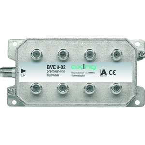 Verteiler 8-fach, 5-1006 MHz, F-Stecker, Bauform 02, hohe Rückflussdämpfung