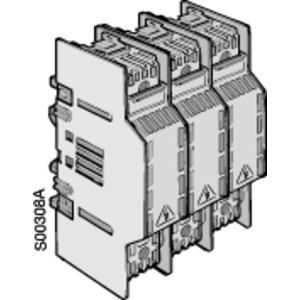 OFAX3S3, Sicherungsunterteil 3-polig Berührungsschutz IP20 Anschlussschienenbreite 40mm