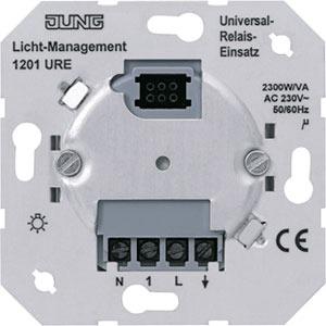 1201 URE, Relais-Einsatz 1-Kanal AC 230V DC 50/60 Hz N-Leiter erforderlich