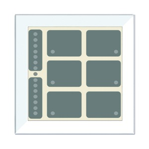 LCN - GTS8W, GT rahmenlos, weiß, mit 8 Tasten, 6LEDs, Bargraph, integr. TS