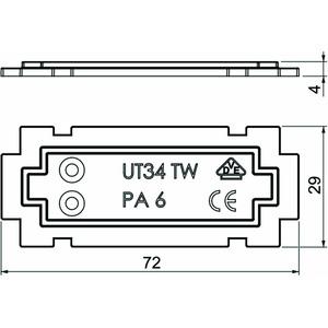 UT34 TW, Trennwand für UT34 72x29x4, PA, graphitschwarz, RAL 9011