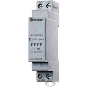 77.01.8.230.8050, Relais mit 1 SSR-Kontakt 5 A/60 bis 240 V AC, Einschaltstrom bis 300 A für 10 ms, Eingang 90 bis 265 V AC